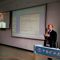 Karl Boltz and Kevin O'Connor present SSE to China University of Mining & Technology, Oct 18, 2019